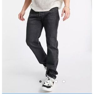 Levi's 501 Original Straight Fit Jean Washed Black